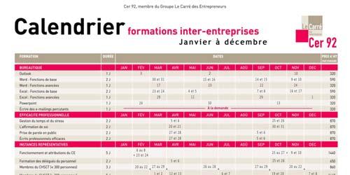 Télécharger le calendrier des formations inter-entreprises